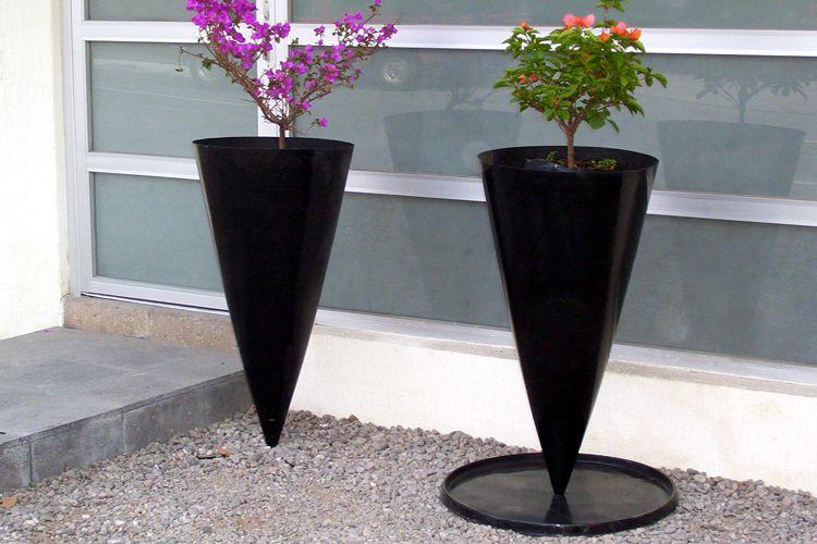 Macetas de fibra de vidrio meue - Pedestales para macetas ...