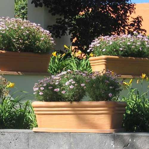 Jardineras barro macetas de fibra de vidrio meue - Jardineras de exterior ...