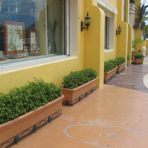 Jardineras barro macetas de fibra de vidrio meue - Jardineras con ruedas ...