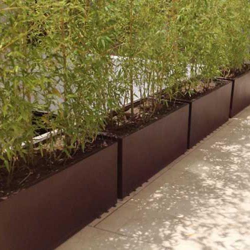 Jardineras rectas macetas de fibra de vidrio meue - Macetas para jardin exterior ...