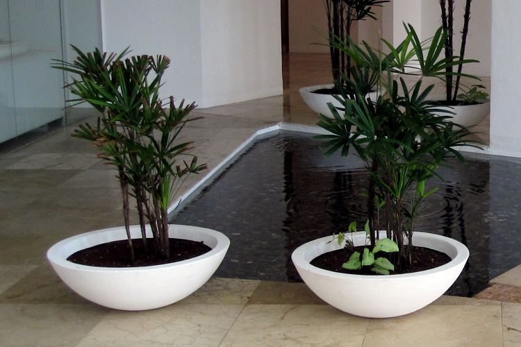 Macetas minimalistas meue - Jardineras de fibra de vidrio ...
