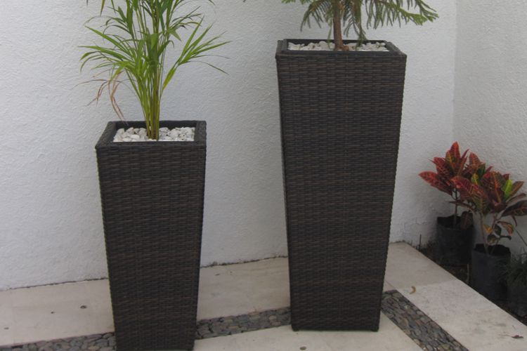 Macetas de tejido sint tico meue for Macetas decorativas para exteriores