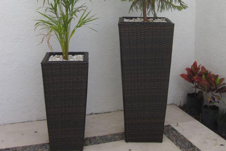 Contenedor fibra sint tica no tejida maceta jardineria - Macetas para interiores ...