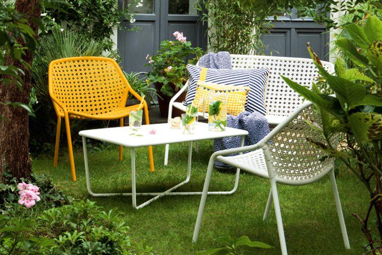 Muebles de jardin de tejido meue for Muebles de aluminio para jardin