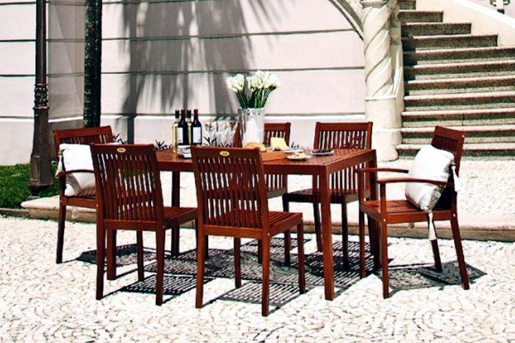 Muebles de jardin de madera meue for Comedores de jardin baratos