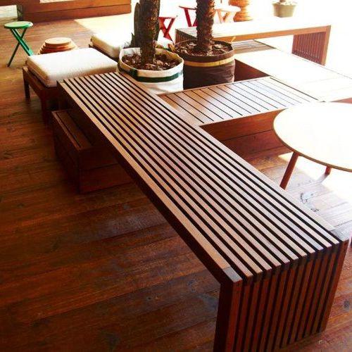 Gaia muebles de jardin meue for Bancas de madera para jardin