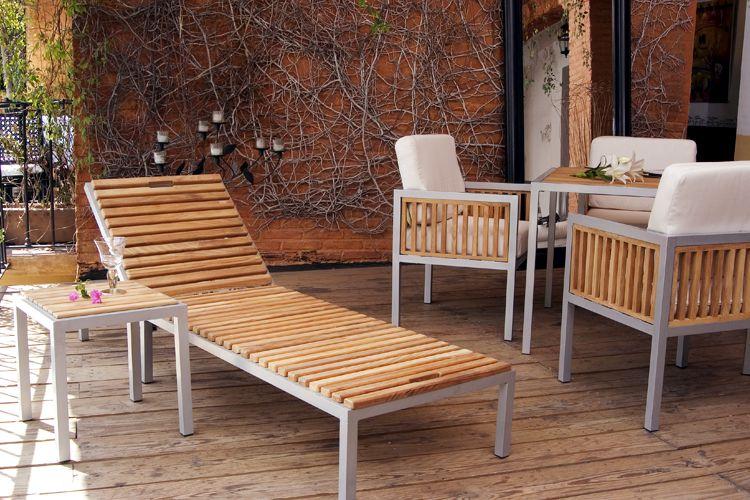 muebles de aluminio y madera teca modelo ibiza