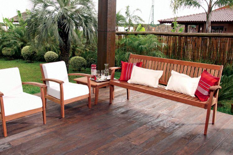 Muebles de jardin de madera meue for Muebles para terraza en madera