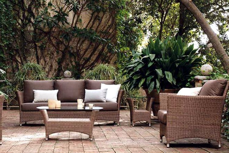 Muebles de jardin de tejido meue for Muebles jardin pvc exterior