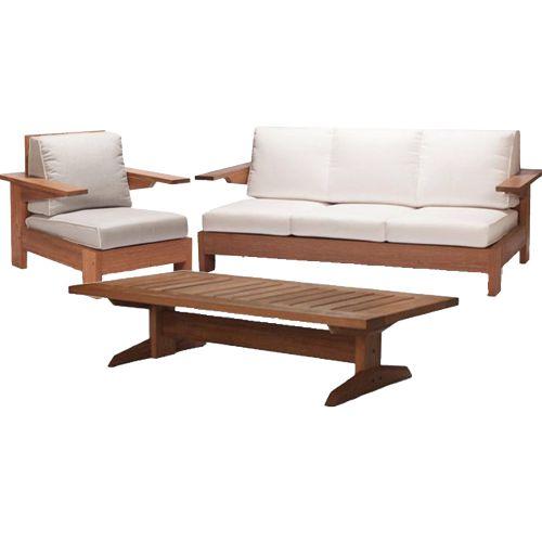 Salas de exterior meue for Salas de madera modernas