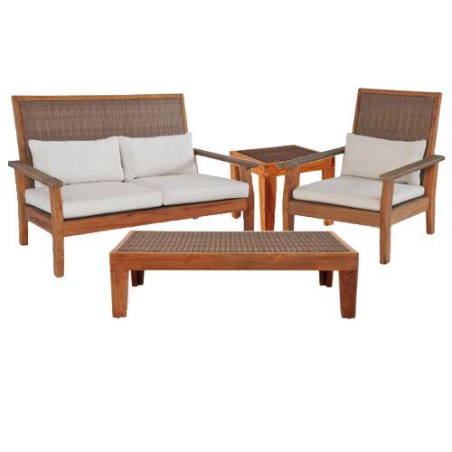Salas de exterior meue for Sala de estar de madera